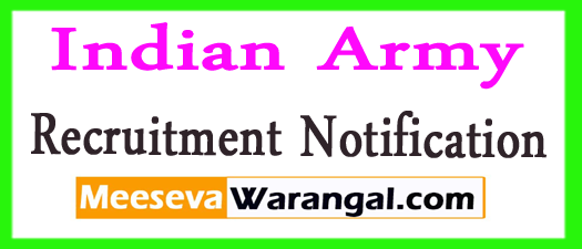 Indian Army Recruitment Notification 2017