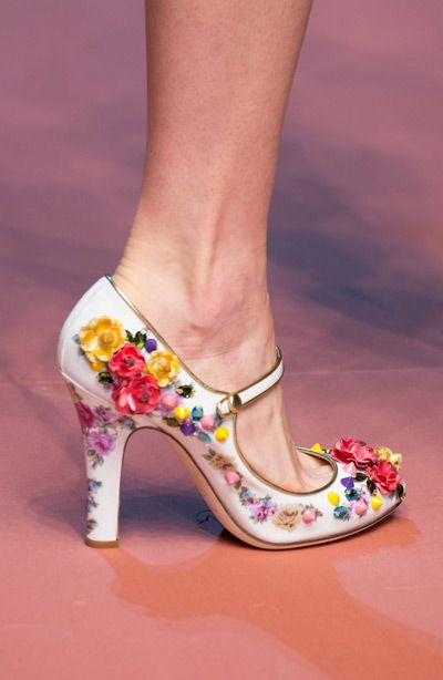 dolce and gabbana 3d floral heels