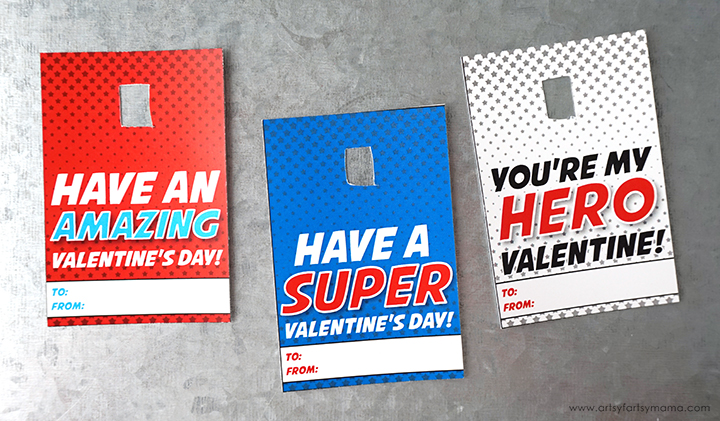 Calling all superheroes! Save the day with these Free Printable Superhero Valentines!