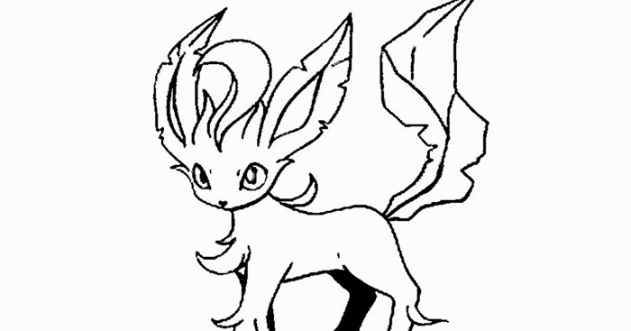 Leafeon pokemon coloring pages | Free Coloring Pages and ...
