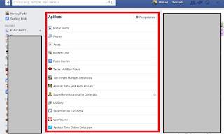 Aplikasi facebook Yang di Install