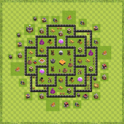 War Base Town Hall Level 8 By Rolly B Dayson (bambam Layout)