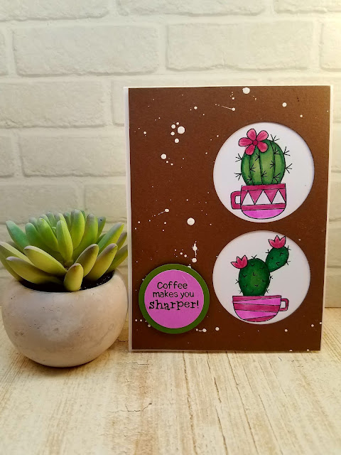 Coffee makes you sharper by Sandi features Cuppa Cactus by Newton's Nook Designs; #newtonsnook