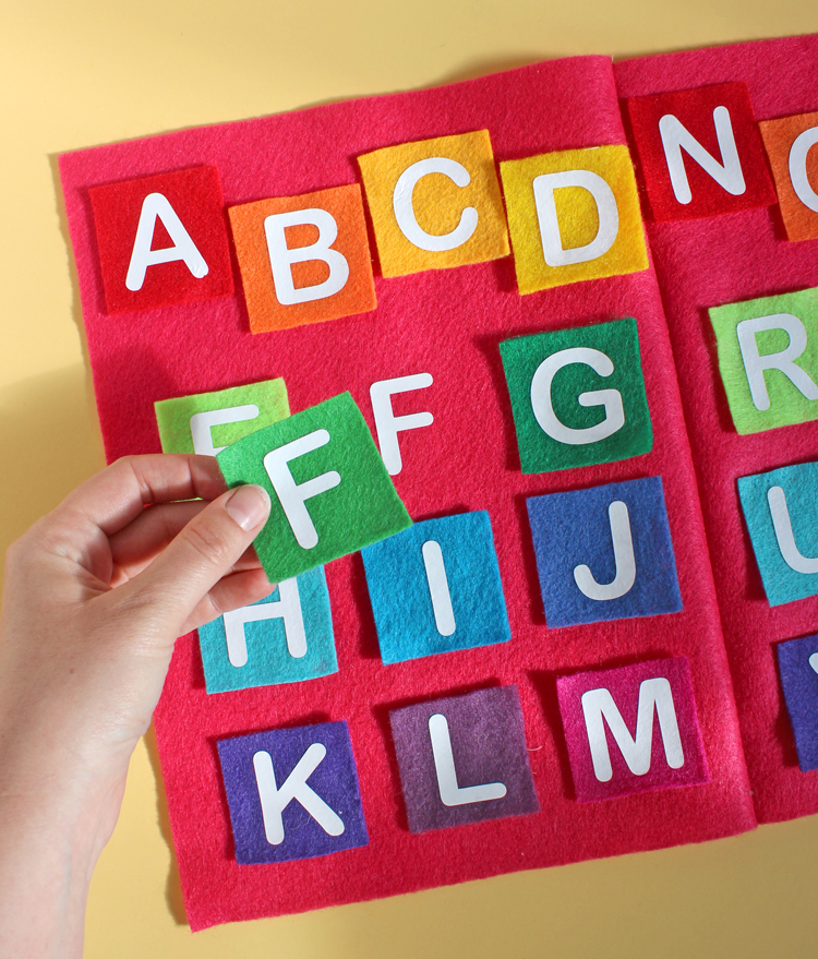 DIY Felt and Vinyl Alphabet Matching Game