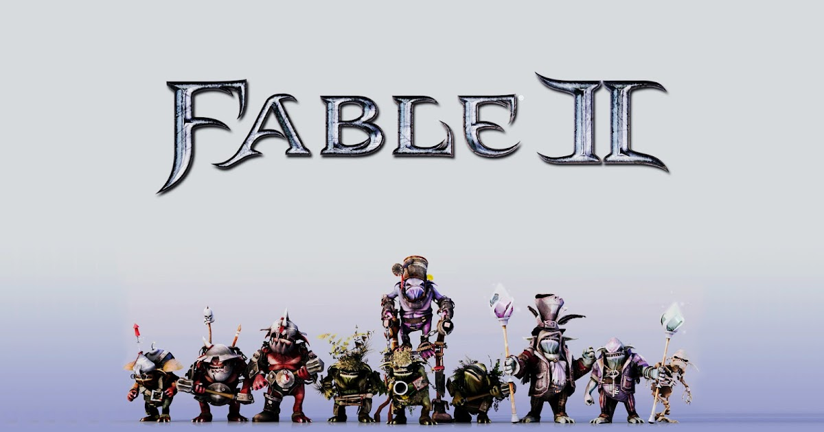 Fable III Characters and Logo HD Wallpaper - wallpapers
