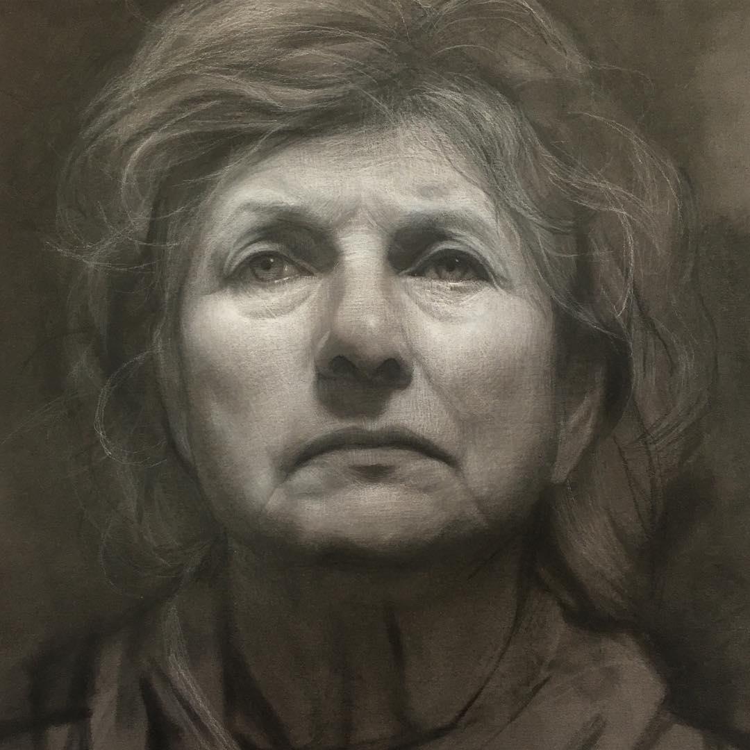 01-Unknown-David-Kassan-Charcoal-Portrait-Drawings-of-Ordinary-People-www-designstack-co