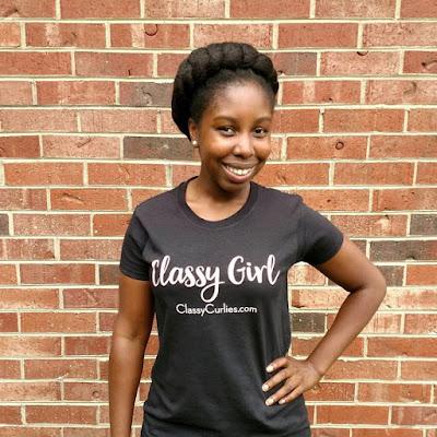 ClassyCurlies' Classy Girl t-shirt