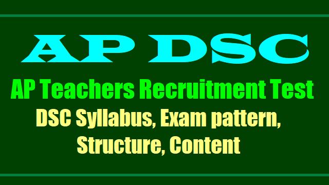 AP DSC Teacher Syllabus
