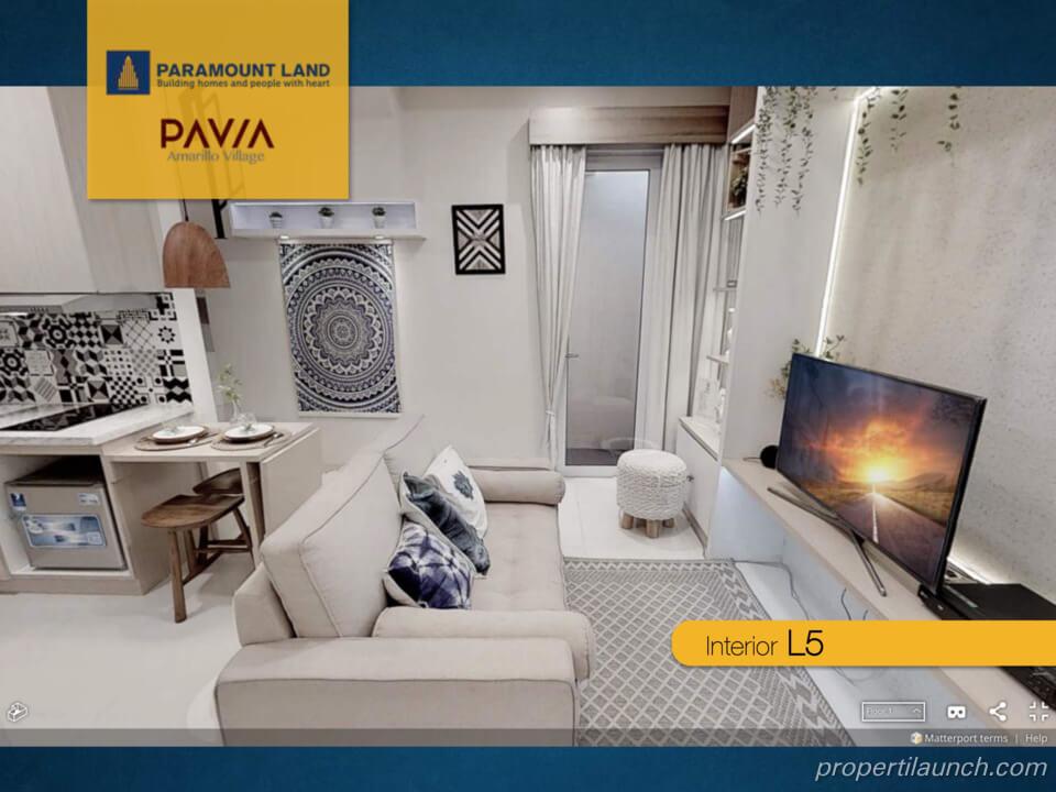 Interior Rumah Pavia Amarillo Village Paramount