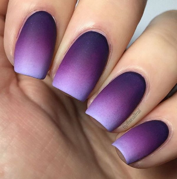 Pretty Matte Nail Designs You Can Also Use Other Colors To Get Blue White Grey Black And