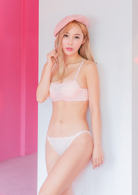 2 Lee Ji Na - Pink - very cute asian girl-girlcute4u.blogspot.com