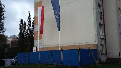 flagi, Świętojańska, Gdynia, Parkan