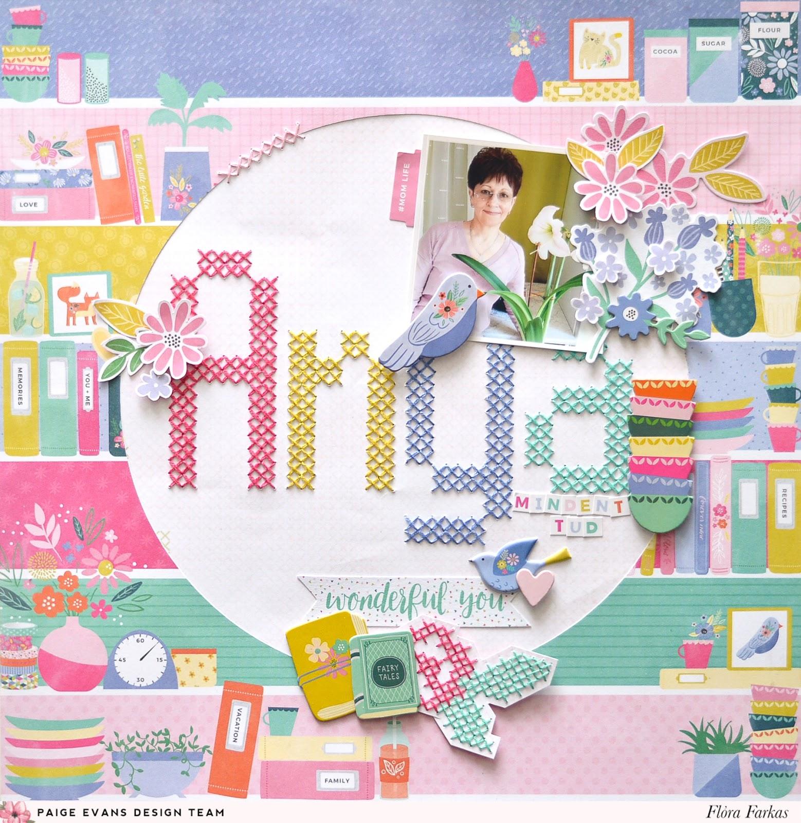 Cross stitching and scrapbooking - Paige Evans | Flóra Mónika Farkas
