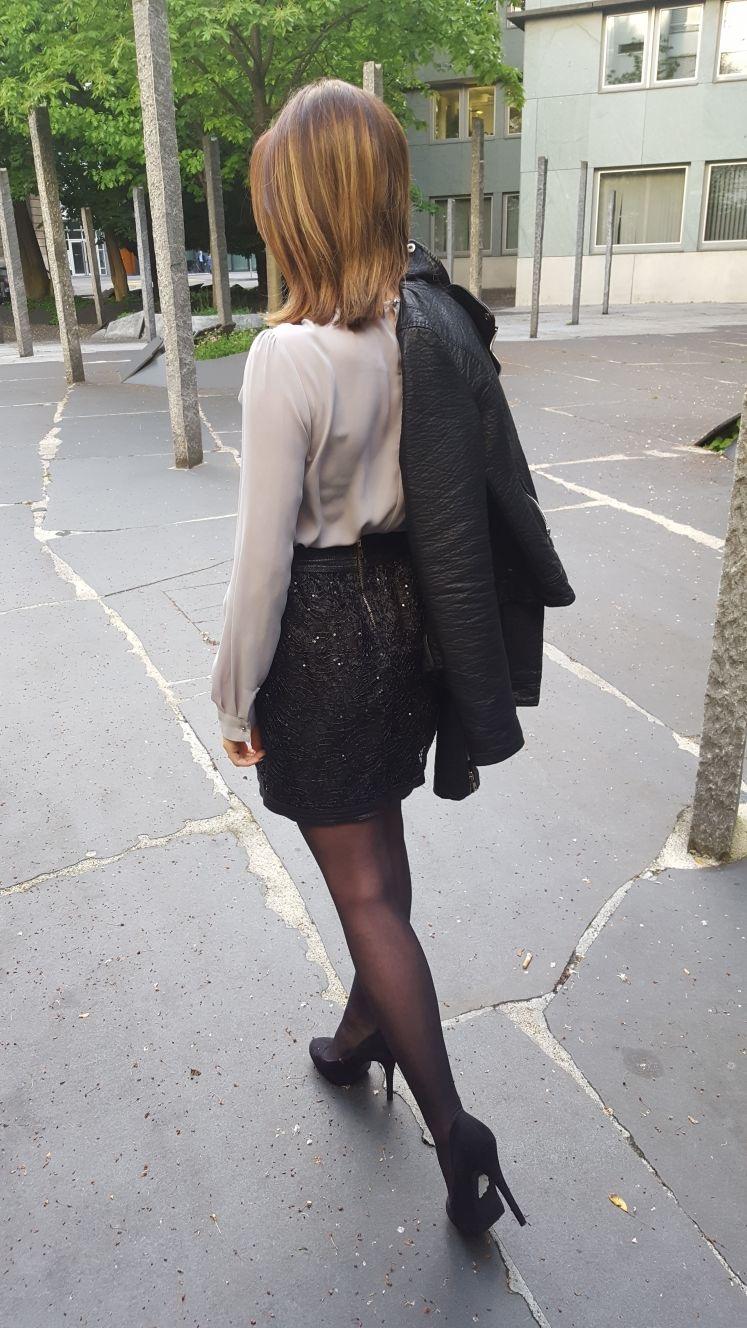 Rockig elegantes Outfit