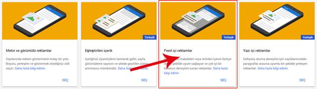 Google Adsense Feed içi reklamlar