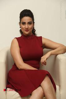Telugu Tollywood Anchor Manjusha Pos in Red Short Dress  0060.JPG