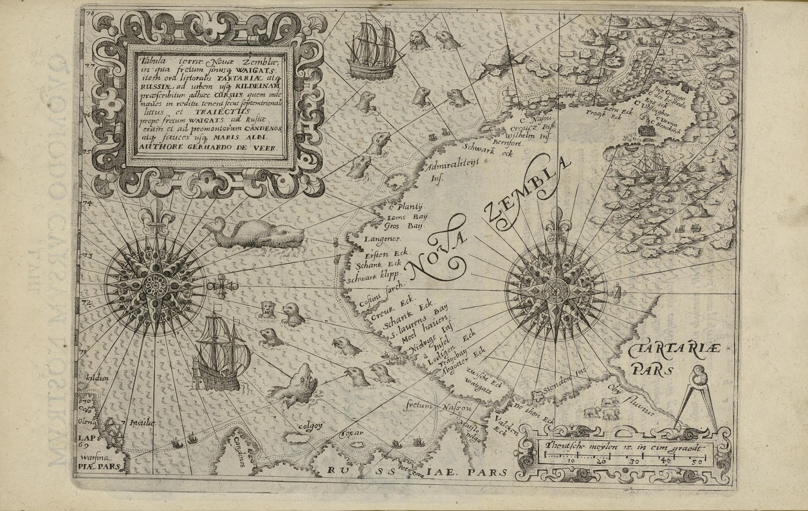 Map of Novaya Zemlya, Russia (1600)