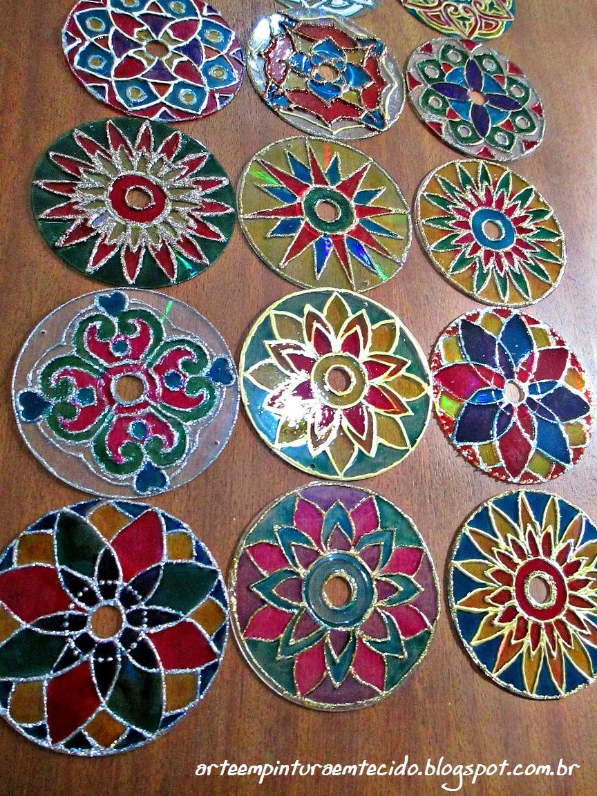 Artesanato Japoneses ~ Pintura em Tecido, Como fazer, Passo a passo, Riscos e muitas dicas Artesanato com Cd