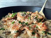Κοτόπουλο με μανιτάρια και παρμεζάνα - by https://syntages-faghtwn.blogspot.gr