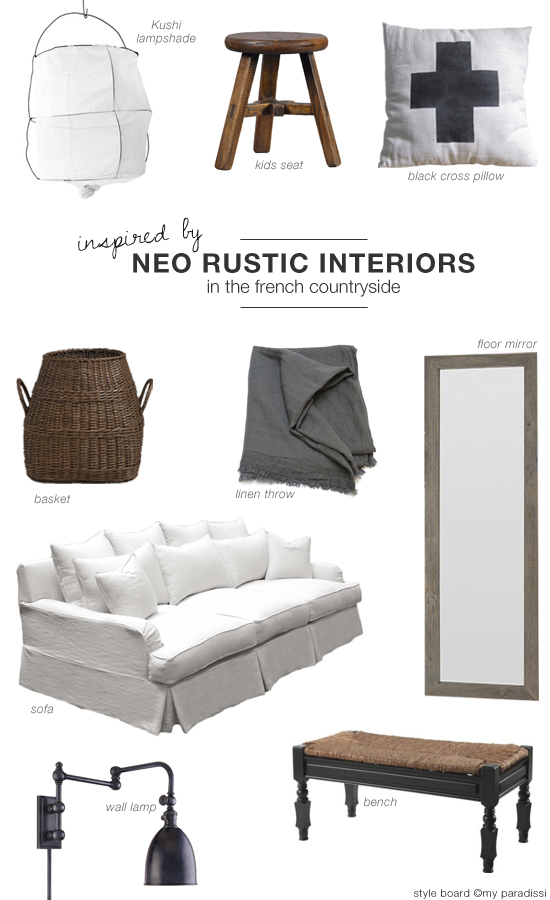 Neo rustic french countryside interiors shopping collection #rustic #interiors #shopping