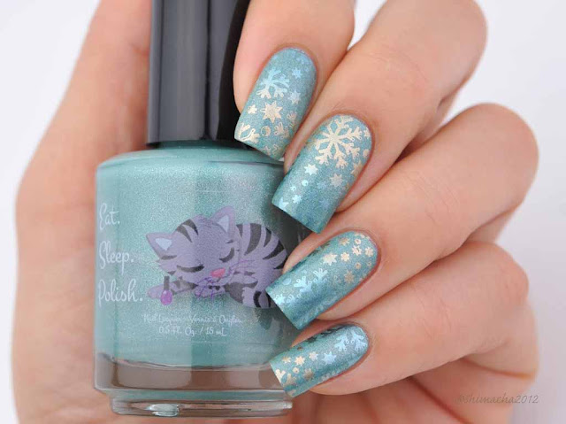 Eat sleep polish: À La Menthe, スタンピングネイル