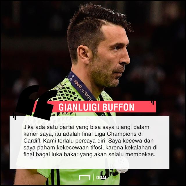 Gianluigi Buffon kecewa kalah di Final Liga Champions