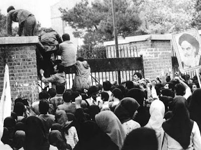 Iranians seizing US embassy in 1979