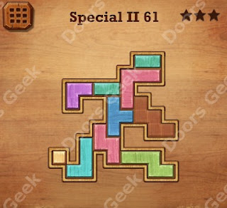 Cheats, Solutions, Walkthrough for Wood Block Puzzle Special II Level 61
