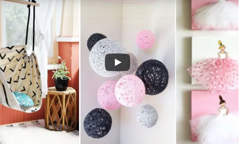 Diy Room Decor 15 Easy Crafts At Home Diy Ideas 5 Minute