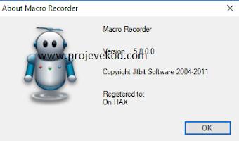 Klavye ve Mouse Hareketlerini Kaydedip Çalıştırmak - Macro Recorder indir