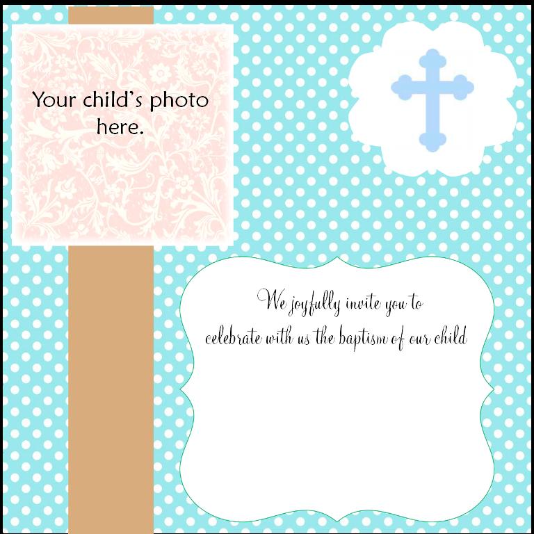 Free Christening Invitation Card Maker Online