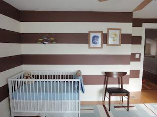 cuarto de bebé celeste chocolate