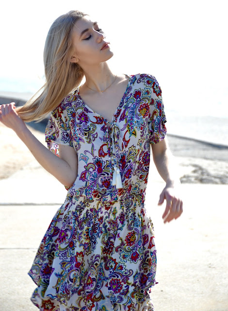 Bohemian, Beach Wear, Spring Style, Boho Outfit, Paisley Dress, Fashion