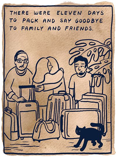 """""""Extreme vetting"""" is already the reality for refugees. This comic shows how, by Robyn Jordan."""