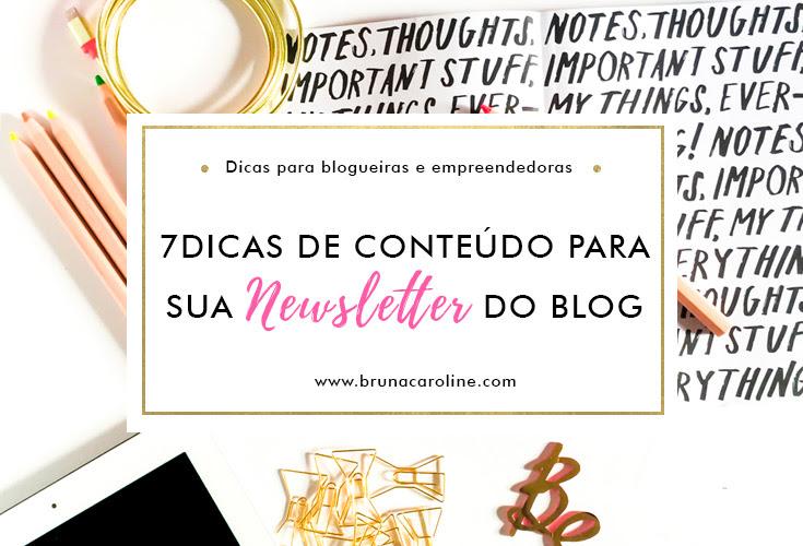 Dicas de conteúdo para a newsletter do blog