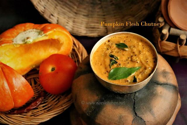 Parangikaai Kudal Thogaiyal | Pumpkin Flesh Chutney