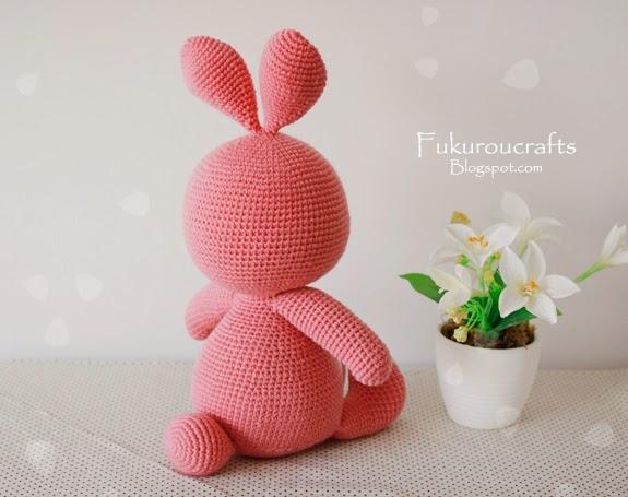 Cute Crochet Pattern Rabbit Doll, Cute Amigurumi Pattern Rabbit Doll, แพทเทิร์น ตุ๊กตา ถัก โครเชต์ กระต่าย น้อย น่ารัก