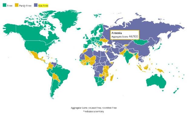 Freedom House: Armenia es un régimen semiautoritario
