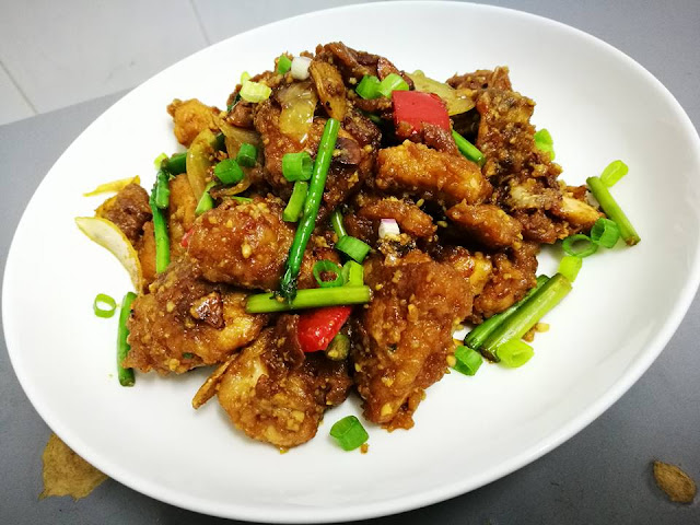 Resepi Ayam Masak Sos Tiram Bersama Asparagus,resepi chicken oyster with asparagus
