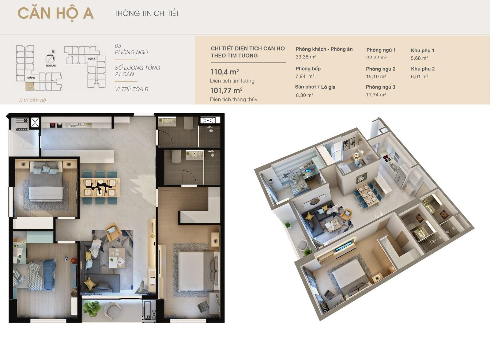 Thiết kế căn hộ A  Dlc complex