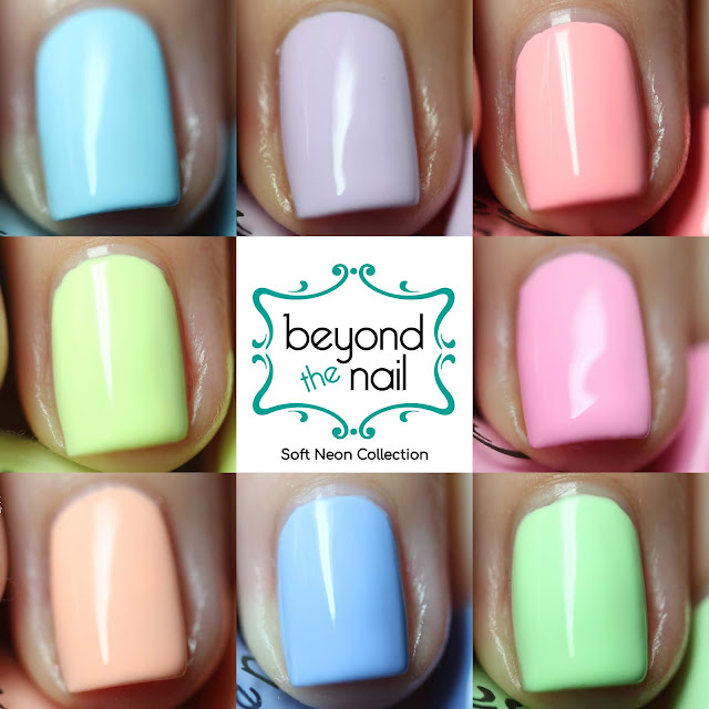 Beyond the Nail Soft Neons 2018 swatched by Streets Ahead Style