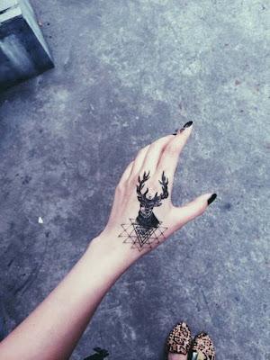 Cute Wrist Deer Tattoos