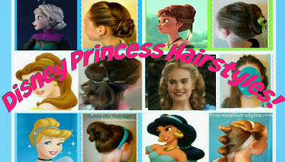 6 Disney princess hair tutorials! Video instructions for each hairstyle. #halloween #halloweenhairstyles #disney #disneyprincess
