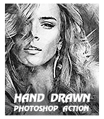 \  - Hand 2BDrawn - Quick Sketch Photoshop Action