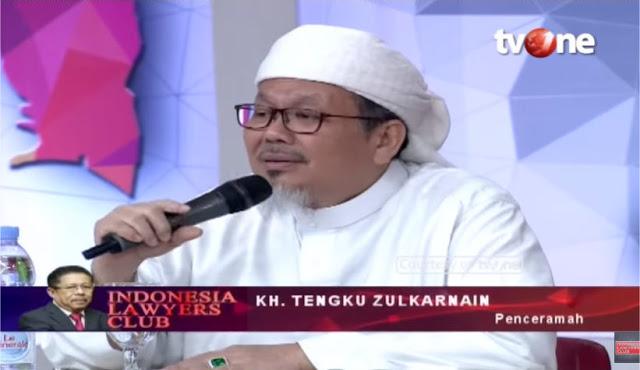 """Telak! Di ILC tvOne, Ustadz Tengku Zulkarnain """"Kuliti"""" Tuduhan Radikal ke Umat Islam"""