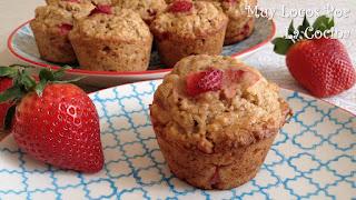 Muffins de Fresas y Plátano