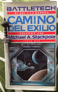 Portada del libro Camino del exilio, de Michael A. Stackpole