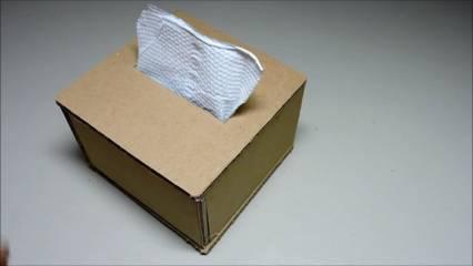 30 Menit Saja Cara Membuat Kotak Tisu Dari Kardus Sepatu