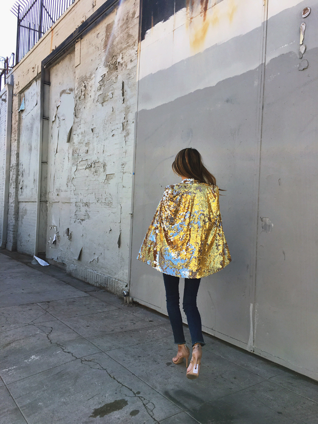 Gold Sequin Cape Style Steal