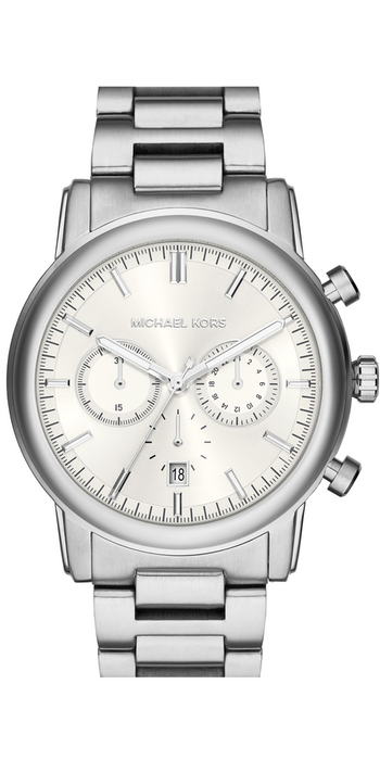 Michael Kors 'Pennant' Chronograph Bracelet Watch, 43mm Silver